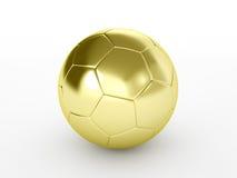 Guld- fotboll klumpa ihop sig Royaltyfria Foton