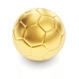 Guld- fotbollboll Fotografering för Bildbyråer