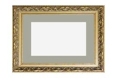 Guld- fotoram för tappning arkivfoton