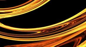 Guld- fractalabstrakt begreppbakgrund Royaltyfria Foton