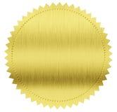 Guld- försegla eller medaljen Arkivbild