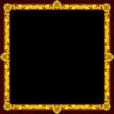 guld- fyrkant för ram Arkivbilder