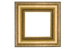 guld- fyrkant för klassisk ram Fotografering för Bildbyråer