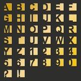 guld- fyrkanttyp Royaltyfria Bilder