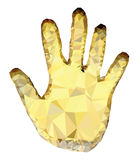 guld- gömma i handflatan arkivbilder