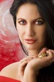 guld gör red upp kvinna Arkivbilder