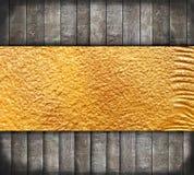 guld- gammalt trä för abstrakt baner Royaltyfria Foton
