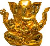 Guld- Ganesha royaltyfri bild