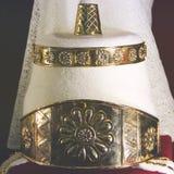 Guld- garnering för huvudet arkivbilder
