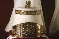 Guld- garnering f arkivbild