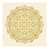 Guld- garnering i arabesquestil Arkivbild