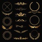 Guld- garneringar Royaltyfri Fotografi