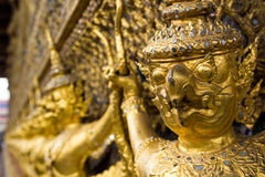 Guld- Garuda staty av Wat Phra Kaew royaltyfri bild