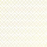 Guld- geometrisk modell med linjer på vit blå bakgrundsart décostil royaltyfri illustrationer