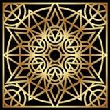 Guld- geometrisk prydnad Royaltyfria Foton