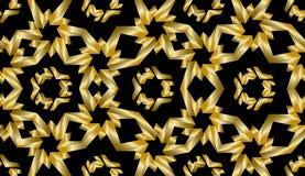 Guld- geometrisk sömlös modell Royaltyfri Bild
