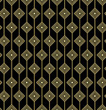 Guld- geometrisk sömlös modell Arkivbild