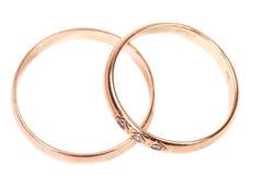 guld- gifta sig för cirklar Fotografering för Bildbyråer