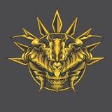 Guld- gigantisk grov spik vektor illustrationer