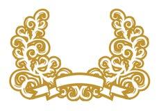 guld- girland Royaltyfria Bilder