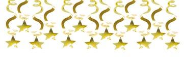 Guld- girland med stjärnan vektor illustrationer