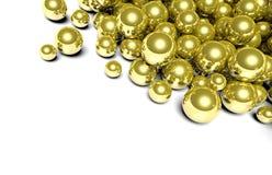 Guld- glansig sfärbakgrund Arkivfoto