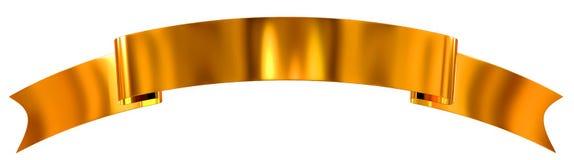 Guld- glansigt band som baner stock illustrationer