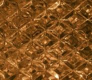 Guld- glass textur med en modell av romber Klar glass diamantform kristaller Royaltyfri Bild