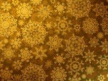 Guld- glatt julhälsningskort. EPS 8 Royaltyfri Bild