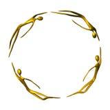 guld- grabb för ram royaltyfri illustrationer