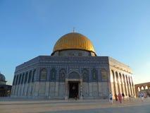 Guld- gravvalv av al-Aqsamoskén, Jerusalem Arkivbilder