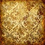 guld- grunge för bakgrund Arkivfoton