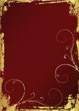 guld- grunge för ram Arkivbild