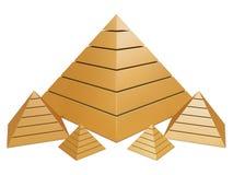 guld- grupppyramider Royaltyfri Foto