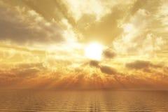 guld- gryning Arkivfoto