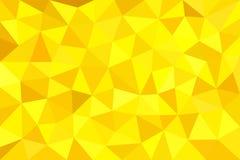 Guld guling, polygonal trigonal bakgrund Royaltyfri Illustrationer