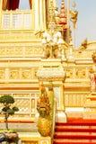 Guld- härligt av några tillagda strukturer runt om den kungliga krematoriet på November 04, 2017 Royaltyfri Fotografi