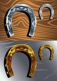 guld- hästskosilver Arkivbilder
