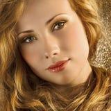 guld- hår royaltyfri fotografi
