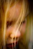 guld- hår för flicka Arkivfoton