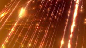 Guld- högteknologisk cyberspace som snett skjutas Arkivbilder