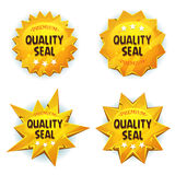 Guld- högvärdiga kvalitets- skyddsremsor för tecknad film stock illustrationer