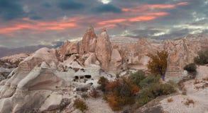 Guld- höst i Cappadocia kalkon Fotografering för Bildbyråer