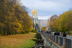Guld- höst i Tsarskoye Selo Royaltyfri Fotografi