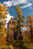 Guld- höst runt om kapell i Tsarskoye Selo Royaltyfria Foton