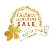 Guld- höstförsäljning Royaltyfri Fotografi