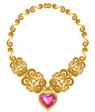Guld- halsband Royaltyfri Fotografi