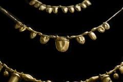 Guld- halsband från det Tartessos förrådet av Aliseda Kopian curren Royaltyfria Bilder