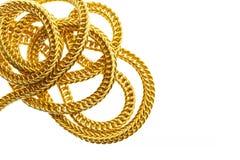 Guld- halsband som isoleras på vit royaltyfri foto