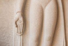 Guld- hand av Buddha Royaltyfri Bild